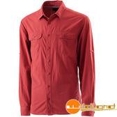 Wildland荒野 W1202-07酒紅 男可調節抗UV襯衫