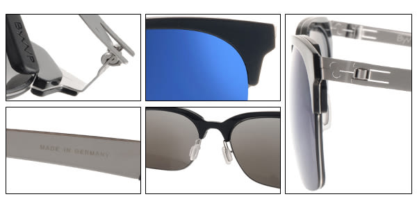 ByWP 太陽眼鏡 BY15201 BBMBS (黑-槍銀) 德國薄鋼 率性水銀鏡面款 # 金橘眼鏡