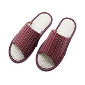 HOLA 和風室內蓆拖鞋 圖騰紅M