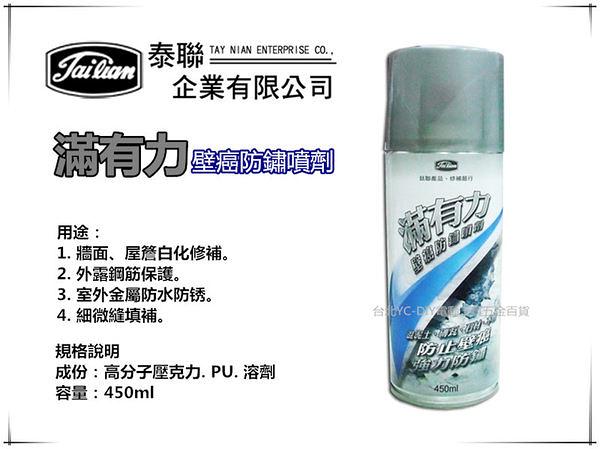 【台北益昌】滿有力 正台灣製 壁癌防鏽噴劑 防止壁癌 強力防鏽