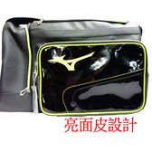 Mizuno  大 側背包 手提旅行袋 -1FTDS500193-黑配綠