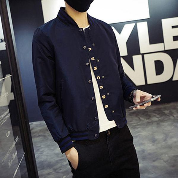 Mao  日系新品經典棒球風格立領薄款外套