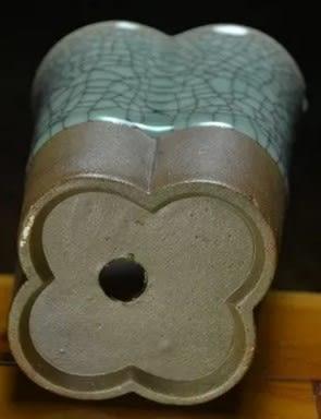 [協貿國際]  青瓷梅花形花盆陽台擺件桌面裝飾 (1入)