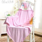 嬰兒被 嬰兒抱被新生兒包毯雙層布寶寶包被多功能睡袋襁褓包巾「Chic七色堇」