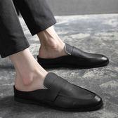 豆豆鞋夏季社會小夥英倫小皮鞋男士韓版潮流百搭休閒鞋豆豆發型師潮鞋子 嬡孕哺