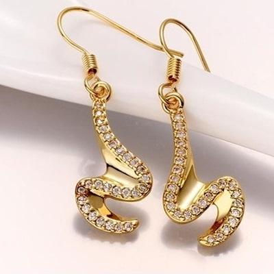 耳環 玫瑰金純銀 鑲鑽-韓版獨特高貴氣質生日情人節禮物女飾品73bu77【時尚巴黎】