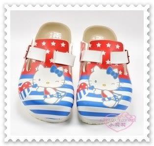 ♥小花花日本精品♥ Hello Kitty 美國國旗 勃肯鞋 拖鞋 休閒鞋 中大童 台灣製 816871