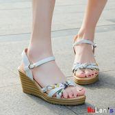 楔形涼鞋 涼鞋 平底 厚底 時尚 坡跟 高跟 鞋子