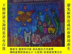 二手書博民逛書店英文原版罕見Painting with Stitches by