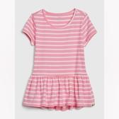 Gap女幼甜美風格印花短袖洋裝540004-粉色條紋