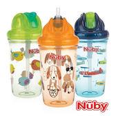 Nuby 晶透學飲杯 細吸管 300ml (款式隨機出貨)