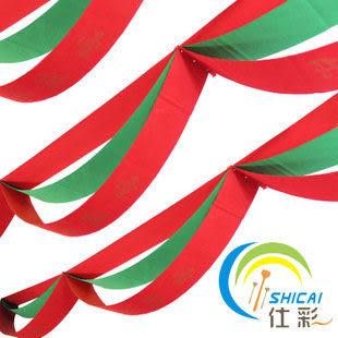 三重聖誕波浪旗 印花吊旗