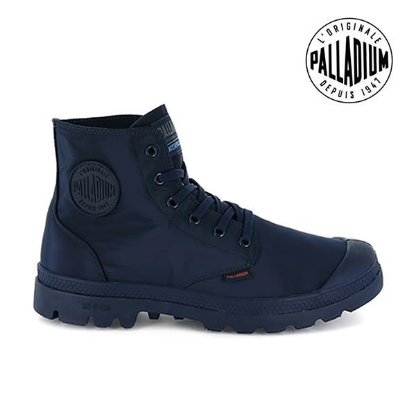 【南紡購物中心】【PALLADIUM】PAMPA PUDDLE LITE+WP 輕量雨傘布防水靴 / 深藍 男女鞋