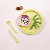 2018北歐簡約竹纖維寶寶益智餐具套裝糖果色創意盤子個月兒童餐具