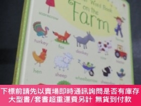 二手書博民逛書店my罕見first word book on the farmY186899 JFMAMJJASON JFMA