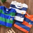 男童短袖夏款兒童2021新款韓版T恤中大童夏裝半袖純棉條紋薄寬松