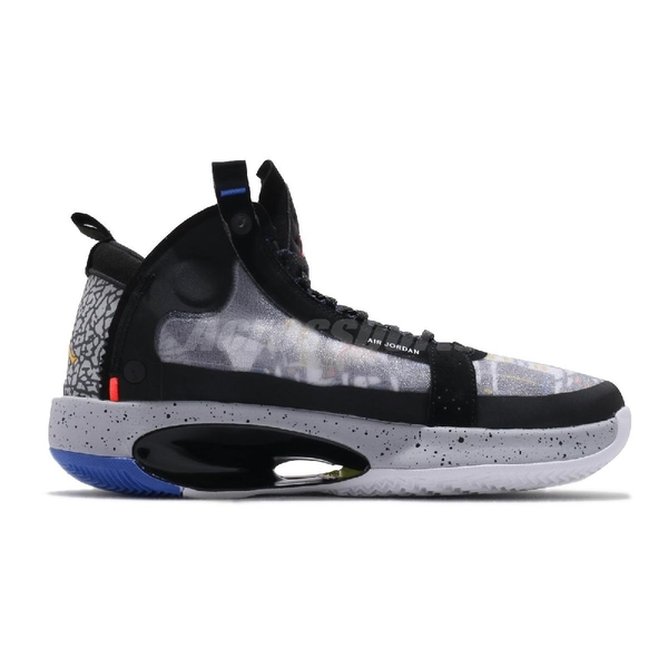 Nike Air Jordan XXXIV Low EP GS Heritage Print 黑 彩色 女鞋 籃球鞋 低筒 運動鞋 【ACS】 CZ7742-008