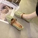 仙女風單鞋女2021年春季新款懶人奶奶鞋中粗跟豆豆鞋淺口晚晚鞋女 韓國時尚週