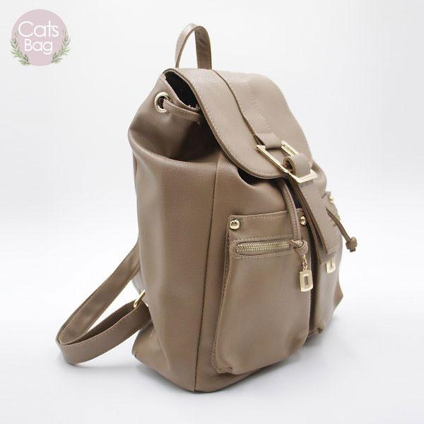 Catsbag|H扣設計皮革後背包|K9211