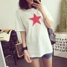 五角星星圖案短袖T恤(T-043)均碼...