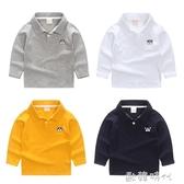 男童長袖T恤POLO衫2019春裝新款童裝兒童寶寶打底衫中小童翻領男 歐韓時代