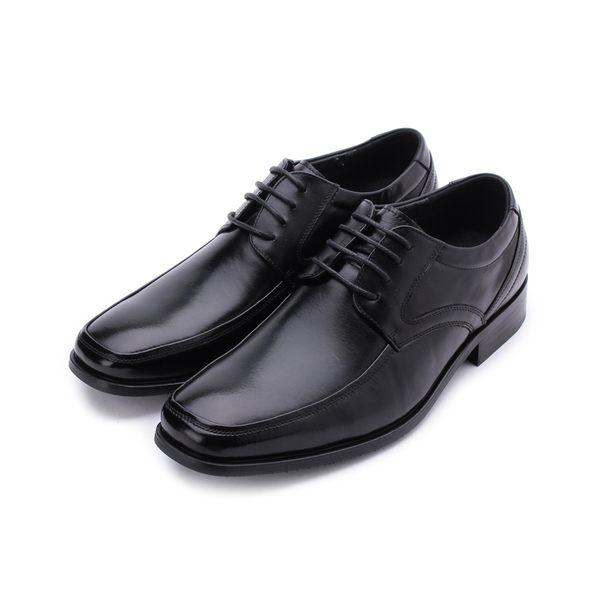 老船長 真皮素面方頭紳士皮鞋 黑 H1 男鞋 鞋全家福