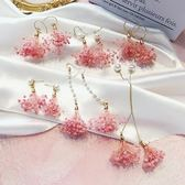 耳環   花朵耳環韓國耳飾品個性流蘇吊墜超仙耳墜長款氣質耳釘