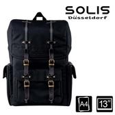 【南紡購物中心】SOLIS【步行者系列】方型攝影電腦後背包