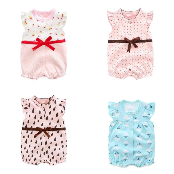 短袖連身衣 包屁衣連身裝 棉質嬰兒服 兔裝 寶寶童裝 NT4235 好娃娃