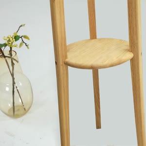 實木簡約自然木紋多功能設計衣帽架-原木色