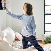 新年好禮 月子服純棉春夏季產后產婦哺乳期喂奶外出秋孕婦睡衣家居服套裝