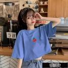 100%純棉短袖t恤女學生韓版寬鬆百搭短款露臍半袖上衣女夏閨蜜裝 街頭布衣