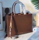 女包2020新款復古公文包立體托特包大容量通勤側背手提包包 黛尼時尚精品