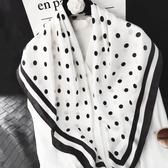 絲巾女百搭大方巾正方形90cm韓國春秋薄款洋氣時尚圍巾兩用披肩
