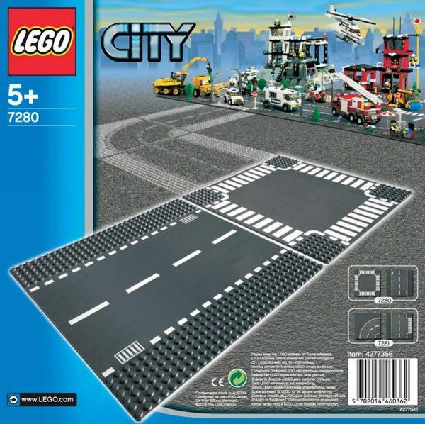 樂高 LEGO CITY 直線道&十字路口(2片裝) 7280 TOYeGO 玩具e哥