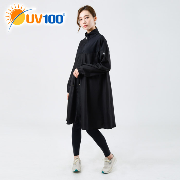 UV100 防曬 抗UV-立領修身風衣外套-女