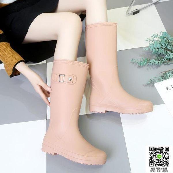 雨鞋回力雨鞋女高筒春秋韓國時尚成人長筒雨靴工作水鞋女防滑膠鞋套鞋