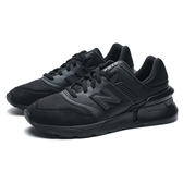 NEW BALANCE 997S 全黑 皮革 網布 輕量 休閒鞋 男 (布魯克林) MS997LOP