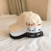 棒球帽 素色 側邊 字母帶 軟頂 潮 可調節 壓舌帽 遮陽帽 棒球帽【CF063】 icoca  08/08