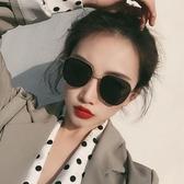 韓國潮網紅墨鏡女圓臉方圓形偏光太陽鏡街拍防紫外線遮陽男士眼鏡