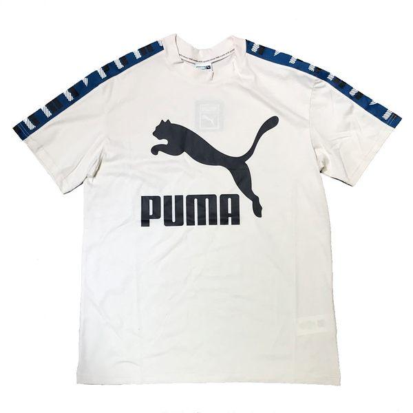 Puma 純棉  綠 織帶 卡其 短袖 手袖LOGO T恤 # 57841602 ☆SP☆