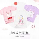 寶寶T恤短袖夏季 嬰兒純棉上衣女寶寶 兒童短袖打底衫 夏裝半袖男童