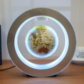 發光自轉磁懸浮地球儀辦公室桌擺件