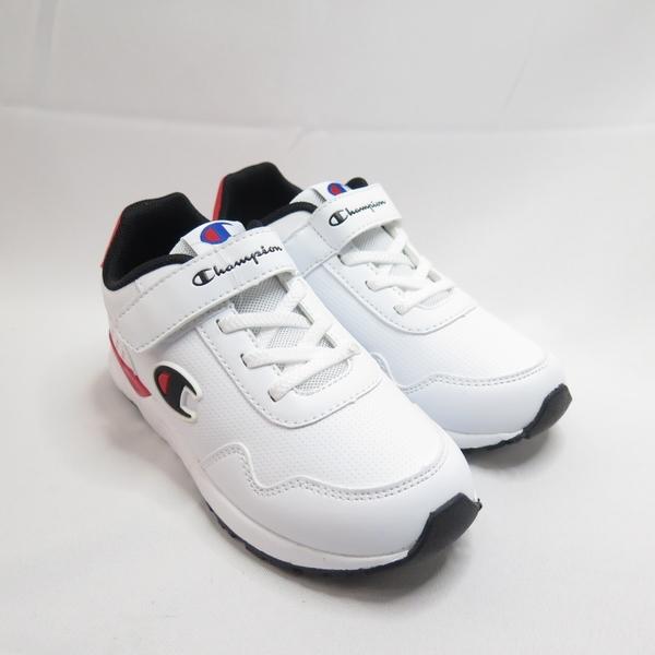 CHAMPION 休閒運動鞋 兒童運動鞋 慢跑鞋 中童鞋 魔鬼氈 KFUS038603 白【iSport愛運動】