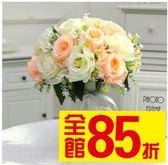 新年好禮 仿真玫瑰花束套裝飾花瓶客廳餐桌臥室假塑料絹花干花藝電視柜擺件