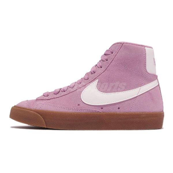 【海外限定】Nike 休閒鞋 Wmns Blazer Mid 77 Suede 粉紅 白 麂皮 女鞋【ACS】 DB5461-600