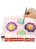 油畫顏料 水拓畫套裝 浮水畫水影畫工具材料兒童顏料安全畫畫涂鴉 濕拓畫