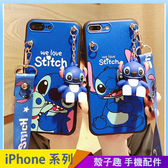 卡通可愛熊 iPhone SE2 XS Max XR i7 i8 i6 i6s plus 手機殼 人物公仔 星際寶貝 史迪奇 背帶掛繩 全包軟殼