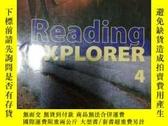 二手書博民逛書店Reading罕見EXPLORER 4(有光盤 書內有筆記)
