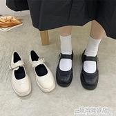 小皮鞋日系女jk黑色洛麗塔小皮鞋小ck瑪麗珍鞋粗跟女中跟厚底百搭 雙十二全館免運
